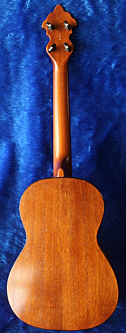 John Claughton ukulele - back view