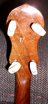 Dallas 'E' ukulele-banjo - back of peghead