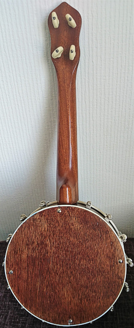 Gibson copy ukulele banjo -back