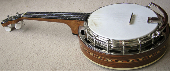 Ludwig Wendell Hall ukulele-banjo - side view