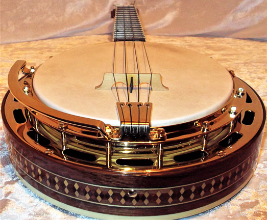 Ludwig ukulele banjo - end view