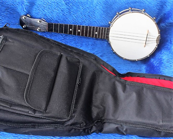 May Bell ukulele-banjo - with case