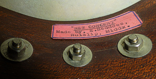 Beddoes 'New Concert' ukulele banjo - label