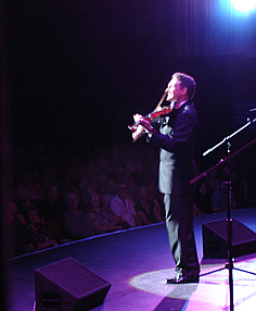 Andy Eastwood on stage at the Opera House, Blackpool