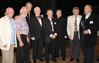 Members of the cast with King Rat Kaplan Kaye and producer Duggie Chapman