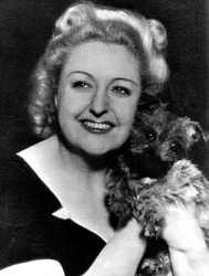 Tessie O'Shea with canine friend